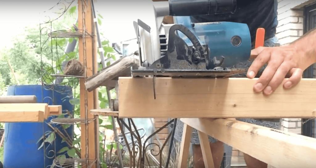 Hilfsmittel Baustütze Dachschräge Mobilheim sanieren